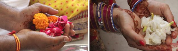 hindu wedding offerings