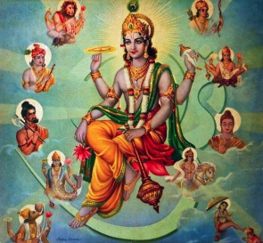 Vishnu_Surrounded_by_his_Avatars